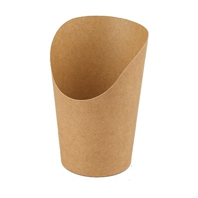 Kraftpapieren wrap cup 10cm, 50 stuks