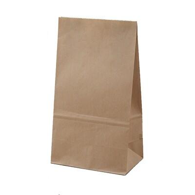 Kraftpapieren blokbodem lunchzak, 50 stuks