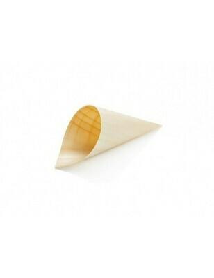 Houtpapier cone 8 cm Verpakt per 50 stuks