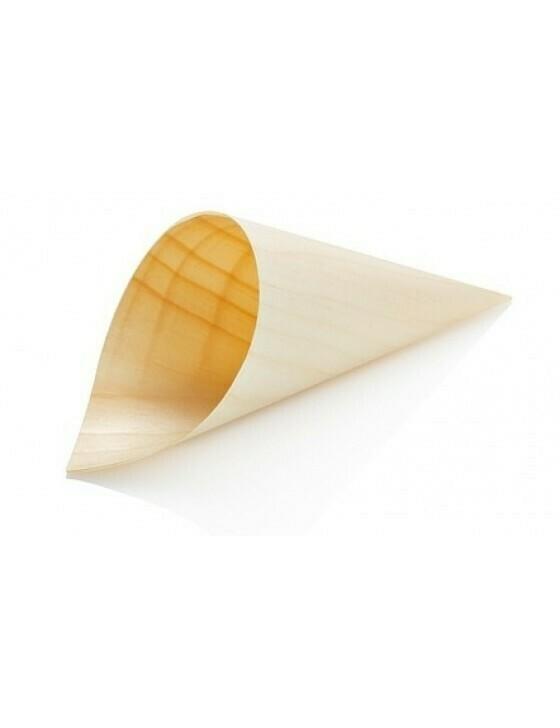 Houtpapier cone 18cm Verpakt per 50 stuks