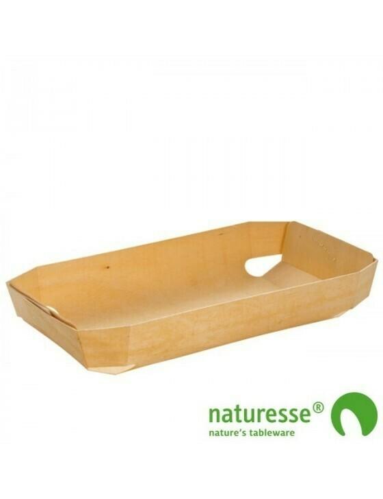 FSC® houten bakvorm geweven 750ml/245x140x40mm Verpakt per 100 stuks
