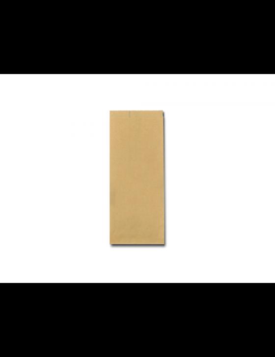 FSC® papieren snackzak 11+8x27cm nr.25 (½ pond), verpakt per 10kg/ 1500 stuks