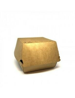 FSC® kraft hamburgerbox 120x120x100mm Verpakt per 100 stuks