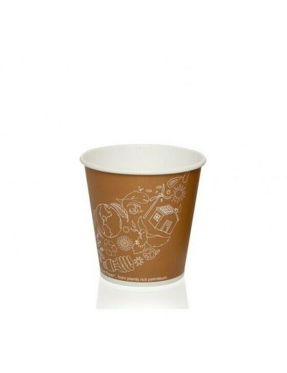 FSC® karton/PLA koffiebeker 7oz/210ml/73mmØ Leaf Verpakt per 50 stuks