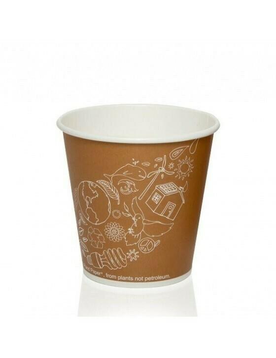 FSC® karton/PLA koffiebeker 10oz/300ml/90mmØ Leaf Verpakt per 1000 stuks