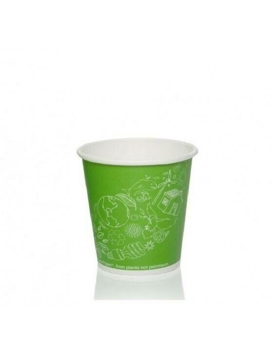 FSC® karton/PLA koffiebeker 7oz/72mmØ Leaf Green Verpakt per 50 stuks