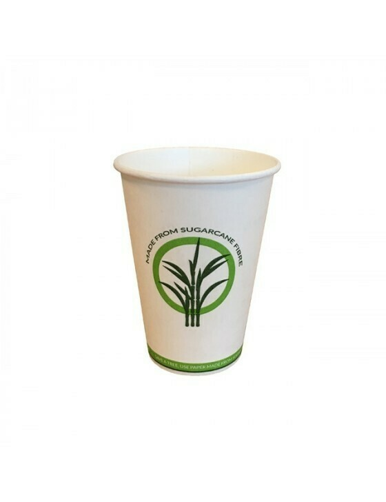 Bagasse/PLA koffiebeker 7,5oz/225ml/70mm Ø Verpakt per 2500 stuks