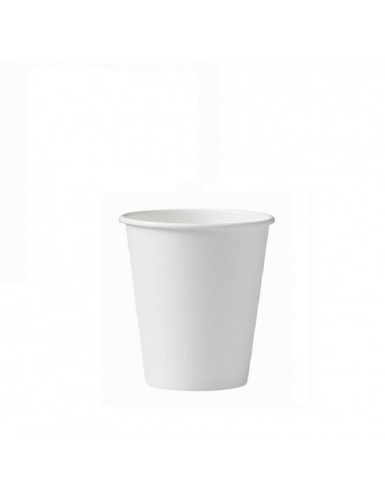 Karton/PLA koffiebeker 7oz/210ml/72mm Ø wit Verpakt per 2000 stuks