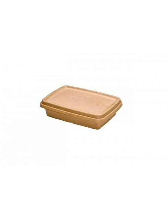 Bagasse deksel voor box 650ml/950ml Verpakt 75 stuks