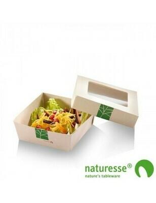 Paperwise saladebakje 750ml/155x155x50mm Verpakt per 250 stuks