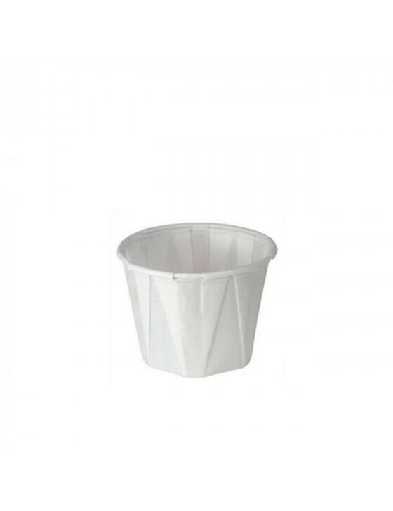 Contenedor de salsa de papel 60ml Ø5x3,5cm Embalado por piezas 250