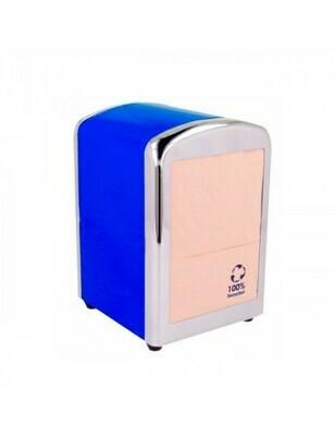 Servet dispenser voor mini servet blauw RVS, verpakt per 1 stuk