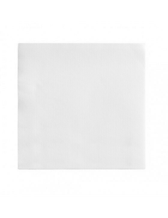 Servet Ecolabel 39x39cm ¼ vouw wit DP Verpakt per 50 stuk