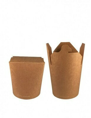 FSC® kraft/PLA noodle box 480ml/83mmØ x 97mm, verpakt per 50 stuks