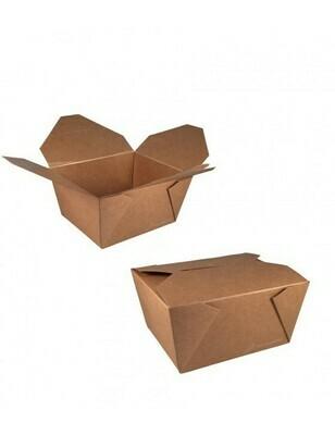 FSC® kraft/PLA take away box 750ml/110x90x63mm Verpakt per 450 stuks