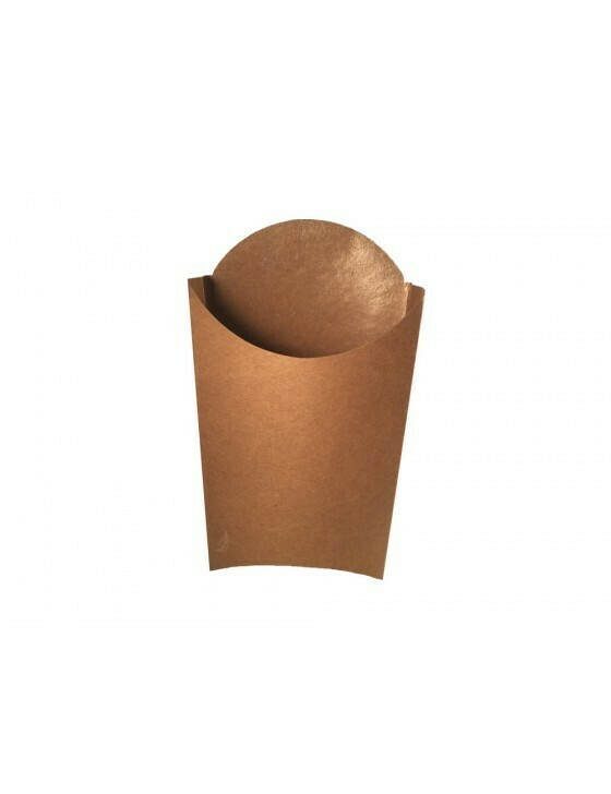 FSC® Kraft frites scoop cup L 87x133x170mm Verpakt per 100 stuks