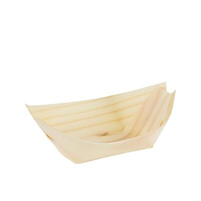 FSC® houten bootje 140x80mm XL Verpakt per 100 stuks