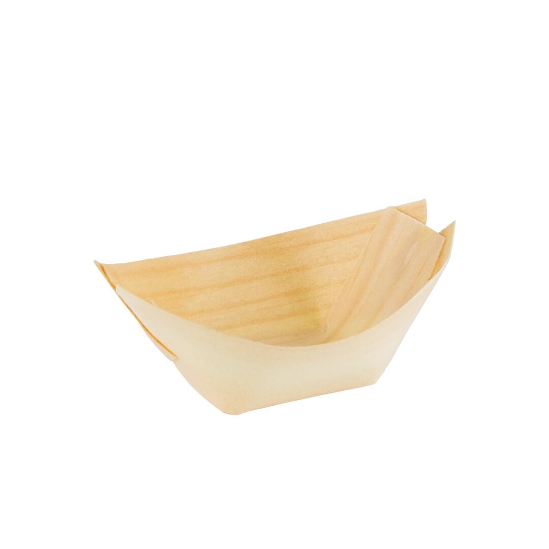 FSC® houten bootje 65x45mm XS Verpakt per 100 stuks