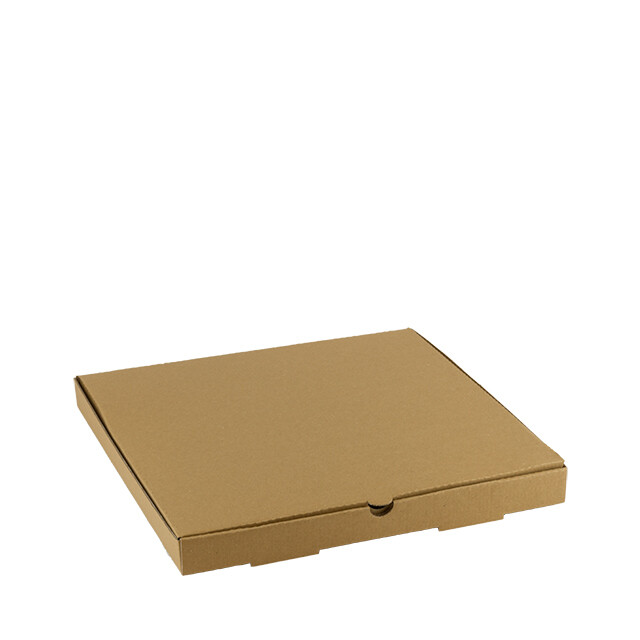 Kraft pizza doos 35x35x3,5cm onbedrukt Verpakt per 100 stuks