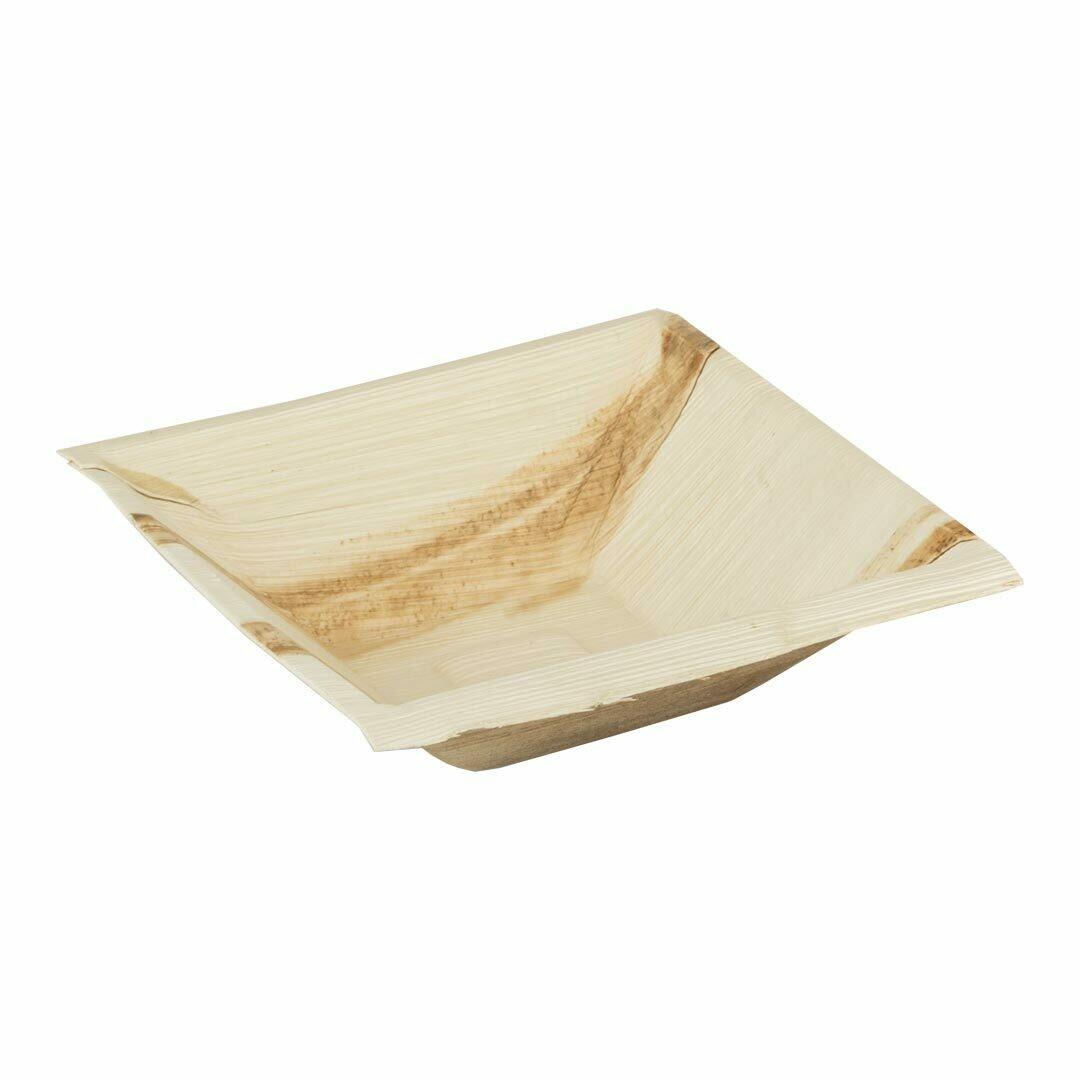 "Palmblad bakje ""Kheops"" 16x16x4,5cm Verpakt per 100 stuks"