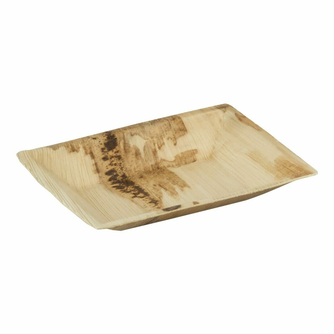 Palmblad bord 17x14x2cm Verpakt per 25 stuks