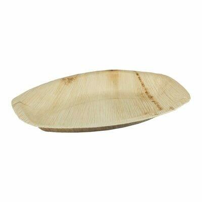 Palmblad cateringschaal 30x20x2,5cm Verpakt per 25 stuks