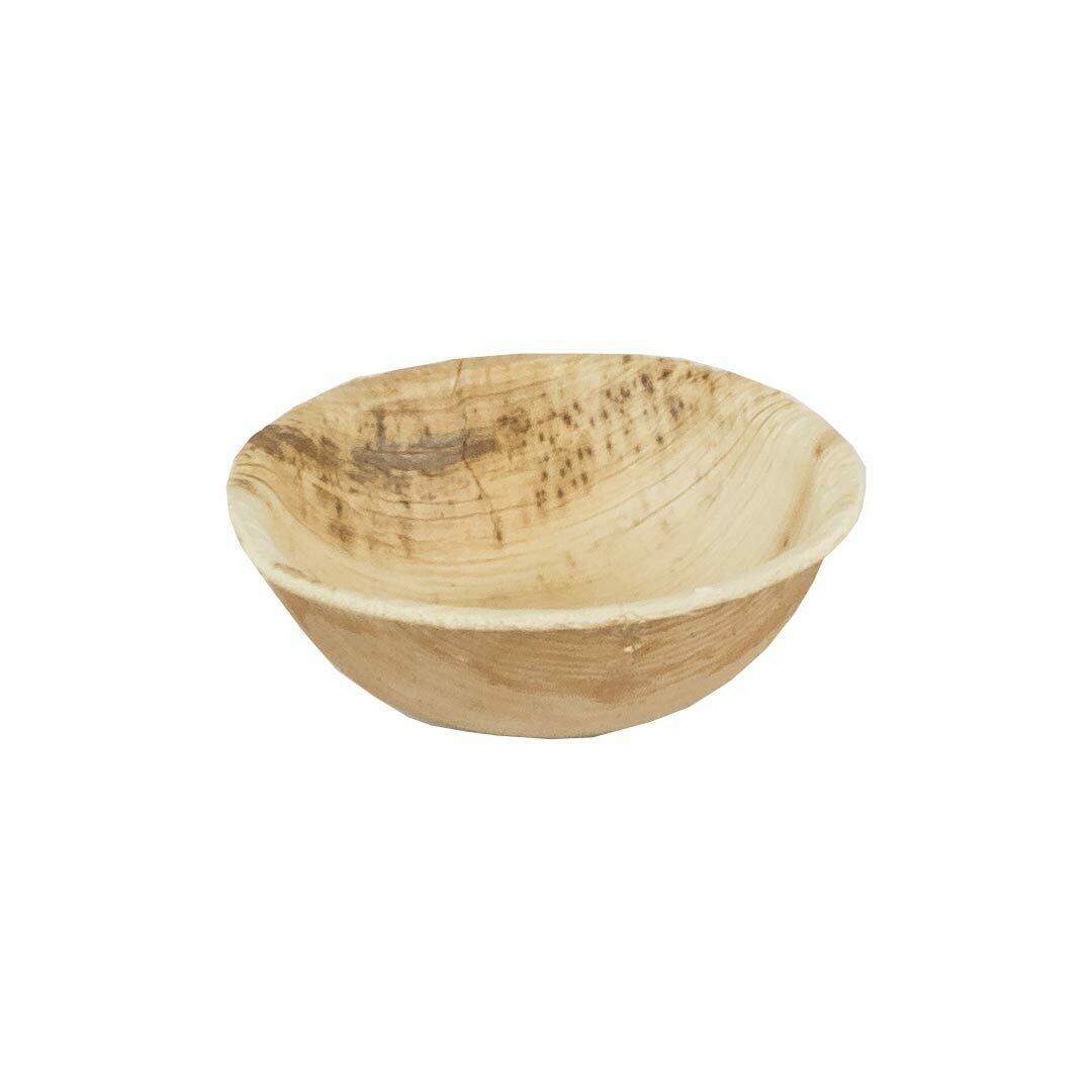 Palmblad sausbakje 35ml/6cm Ø Verpakt per 25 stuks