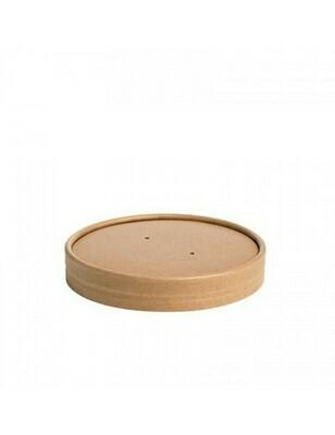 Kraft/PLA deksel voor soepbeker 240ml/360ml Verpakt per 25 stuks