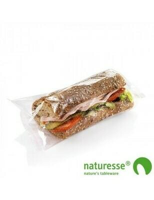 Natureflex sandwichbag geperforeerd 13x28cm Verpakt per 1000 stuks