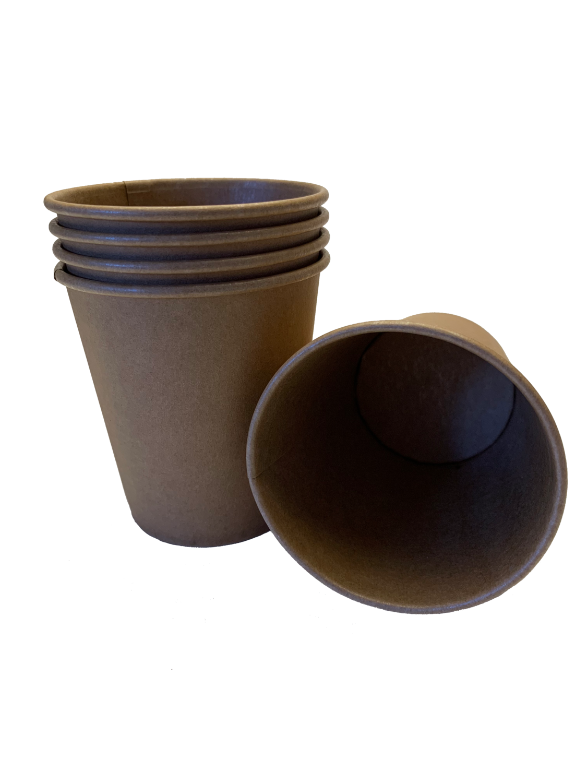 Kraftpapier koffiebekers 180ml, 1000 stuks