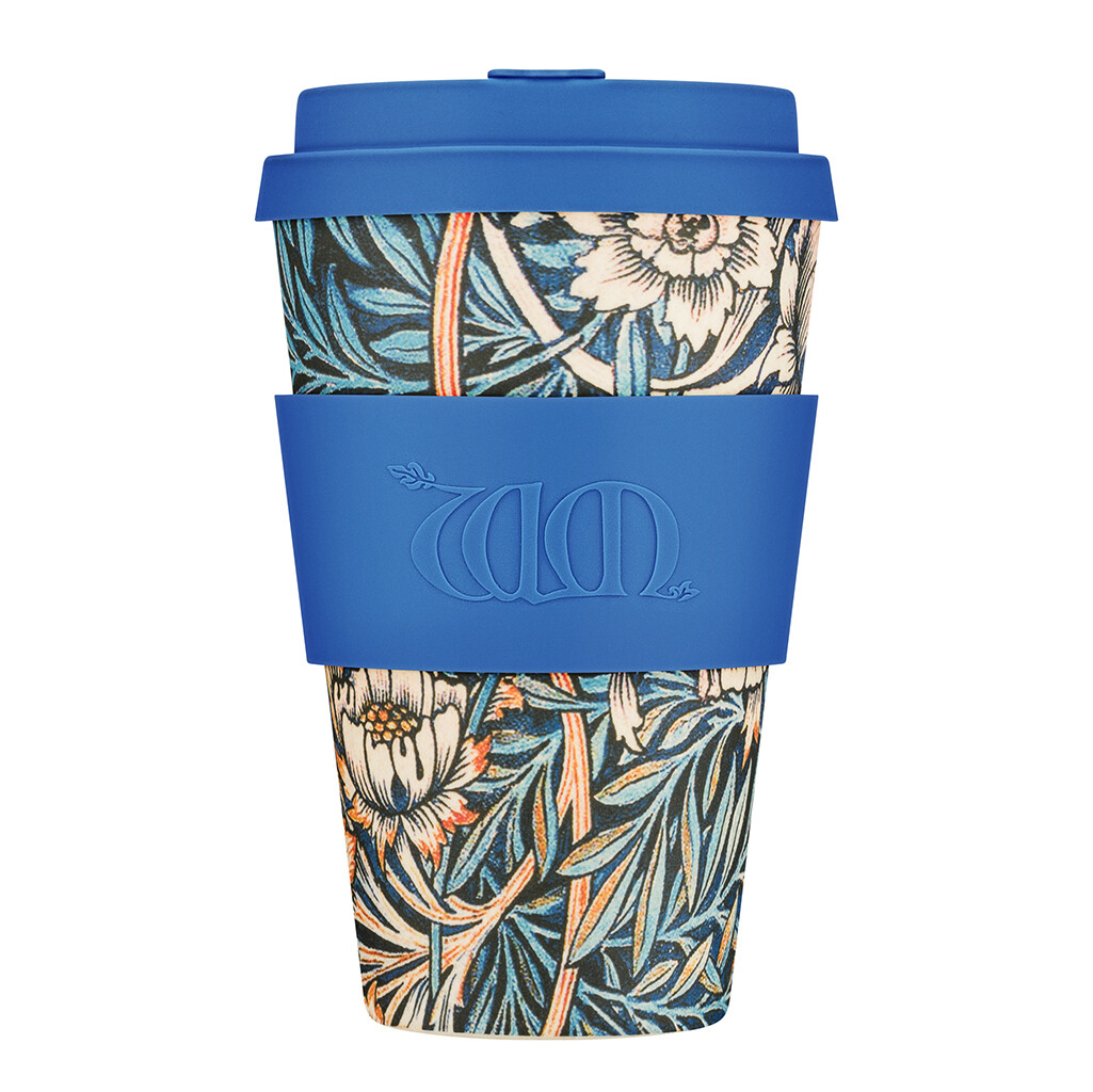 "Ecoffee cup ""Lily"" 14oz/400ml William Morris collectie"
