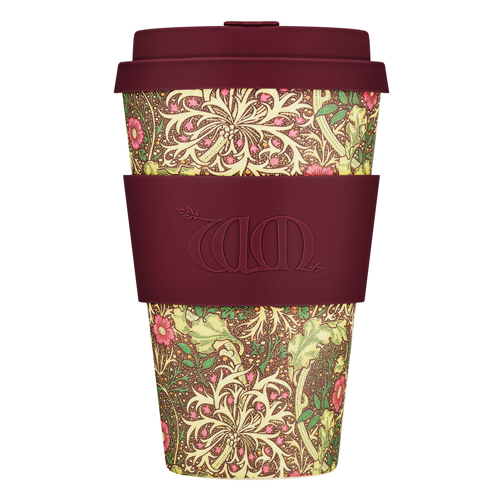 "Ecoffee cup ""Seaweed"" 14oz/400ml William Morris collectie"
