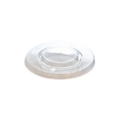 PLA deksel plat 90mm Ø met kruisgat, verpakt per 1000 stuks