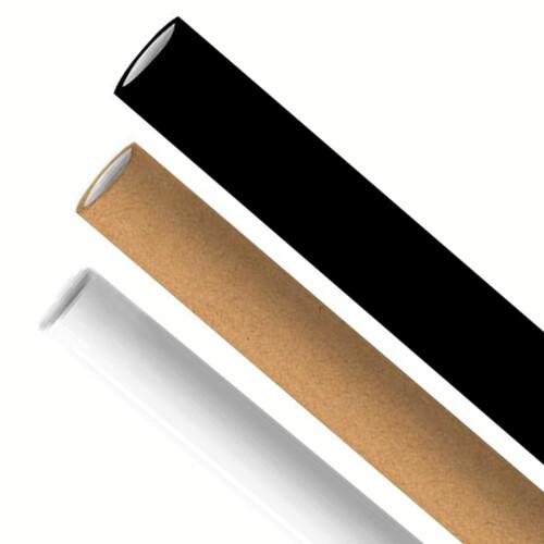 Premium papieren rietjes 6x200mm zwart, wit, kraft mix assortiment, verpakt per 500 stuks