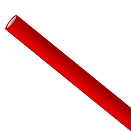 Słomki papierowe 6x200mm czerwone, pakowane po 5000 sztuk