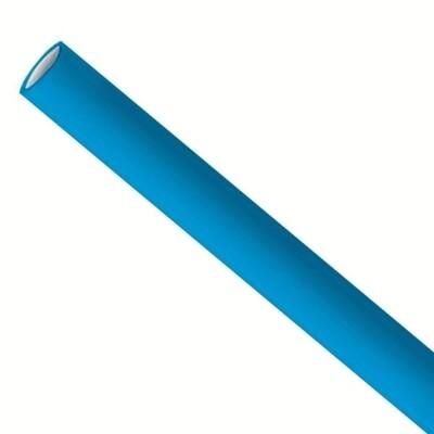 Papirstrå 8x240mm blå, pakket per 5000 stk