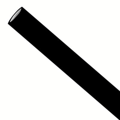 Papirstrå 6x200mm svart, pakket per 5000 stk