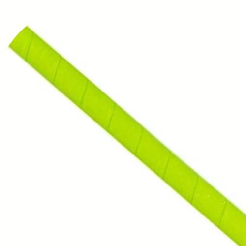 Papieren rietjes 8x240mm groen, verpakt per 5000 stuks