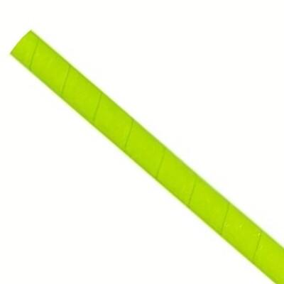 Pajitas de papel 8x240mm verde, embaladas por 5000 piezas