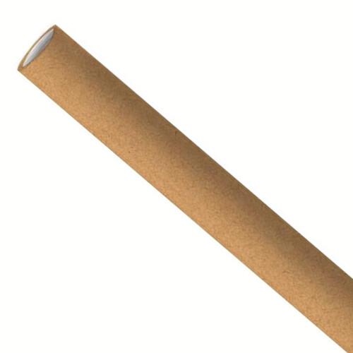 Papieren rietjes 6x197mm kraft, verpakt per 500 stuks