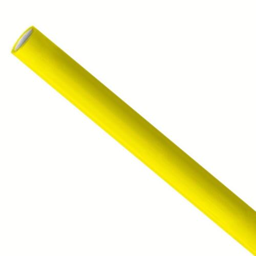 Papieren rietjes 6x200mm geel, verpakt per 500 stuks