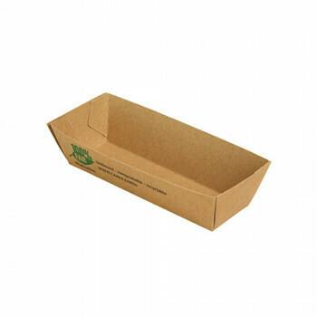Snackbakje A5 karton (100% FAIR) | 10,5 cm x 3,3 cm x 3 cm Verpakt per 80 stuks.