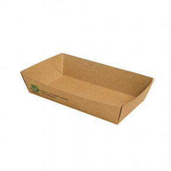 Snackbakje A14 karton (100% FAIR) | 15,5 cm x 8,5 cm x 3,5 cm, verpakt per 80 stuks