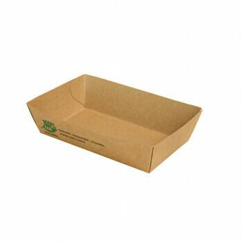 Snackbakje A9 karton (100% FAIR)   12 cm x 7 cm x 3,5 cm, vepakt per 80 stuks