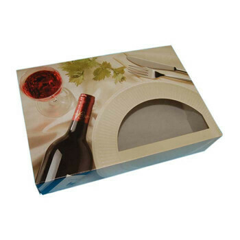 Cateringdoos (Bordeaux)   35,7x24,7x8cm,Verpakt per 100 stuks