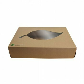 Cateringdozen, maat M (100% FAIR), Karton   357x247x80mm,Verpakt per 100 stuks