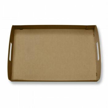 Kartonnen dienbladen / draagtrays (100% FAIR)   Voor cateringdoos maat M,Verpakt per 100 stuks