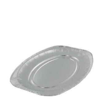 Aluminium cateringschaal ovaal 43x29cm, verpakt per 100 stuks