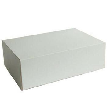 Gebaksdozen (groot), Wit Karton | 26x20cm, verpakt per 225 stuks