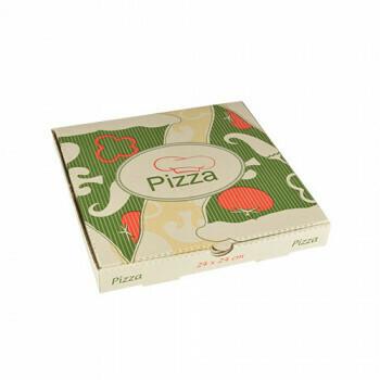 Pizzadozen, Cellulose 'pure' 24 cm x 24 cm x 3 cm, verpakt per 100 stuks